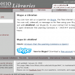 OHIO Libraries Skype Reference